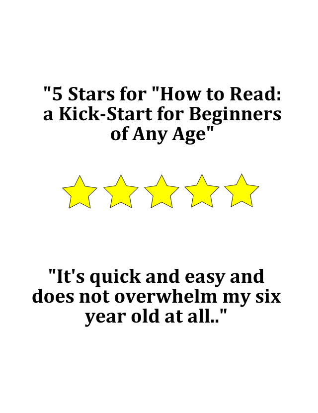 Reviews about How to Read: a Kick-Start for Beginners of Any Age