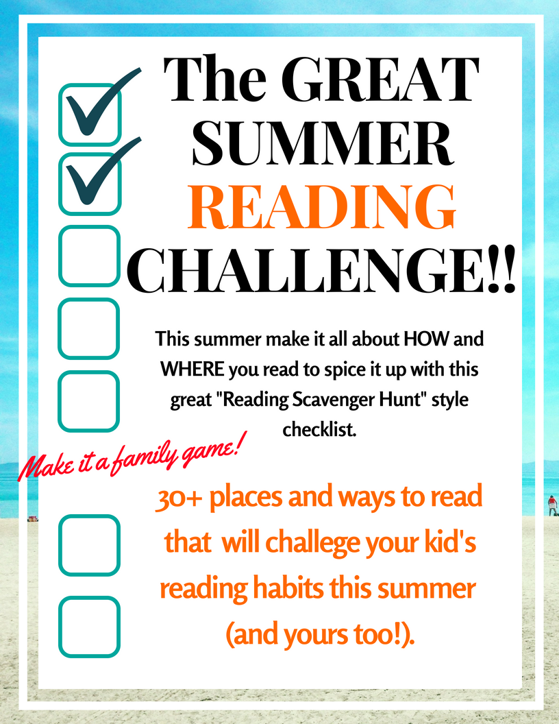 Summer Reading Challenge Ideas!