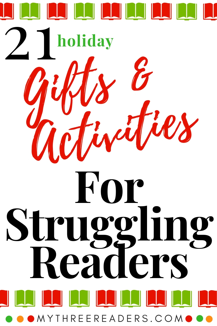 activities for struggling readers, christmas gifts for readers and writers