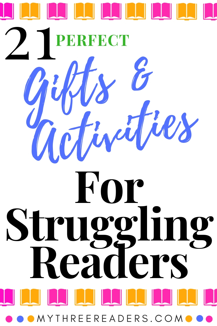 Activities for struggling readers, gifts for readers, gift ideas for readers
