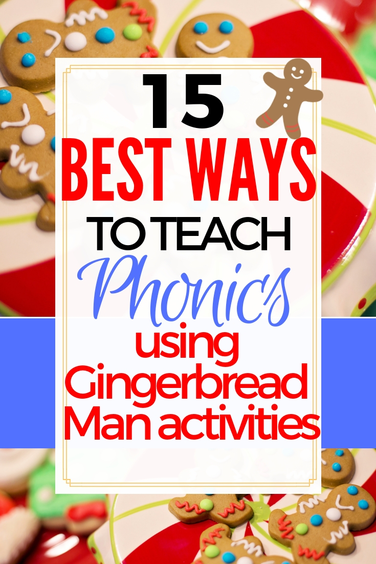 Phonics Gingerbread coloring pages & activities | Gingerbread man coloring page