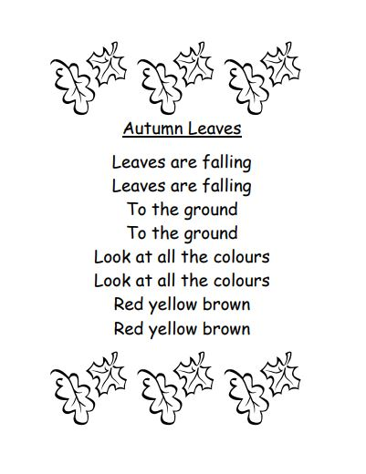 Autumn poem kids - Autumn leaves