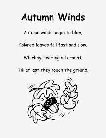 Fall Poems for First Grade - Autumn Winds