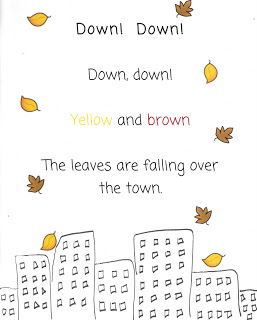 Autumn Poems for Kids - Down Down