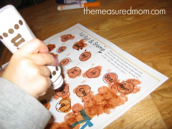 Fall Roll & Stamp Sight Words