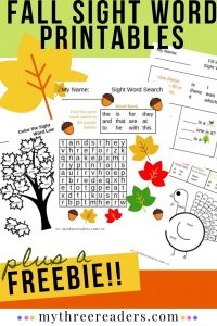 15 Must-Try Printable Fall Sight Word Activities with Turkeys & Autumn Themes