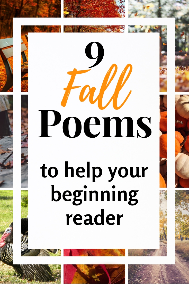 9 Fall poems for kids that will help your struggling reader become more fluent! Easy to teach your beginning reader. #poetry #fallactivities