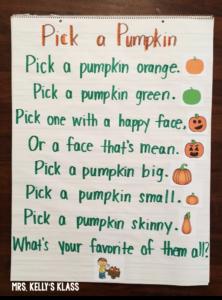 Kindergarten Fall Poems - Pumpkin Poem