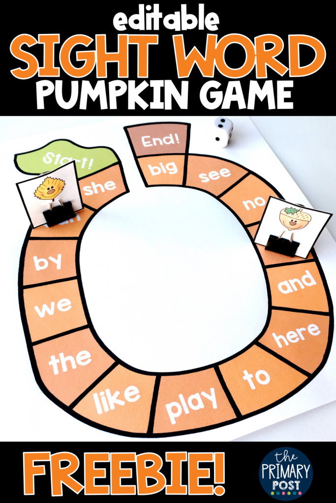 Pumpkin Sight Word Freebie
