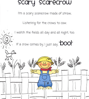 Fall poems for first grade - Scary Scarecrow