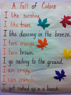 Fall poems for kindergarten