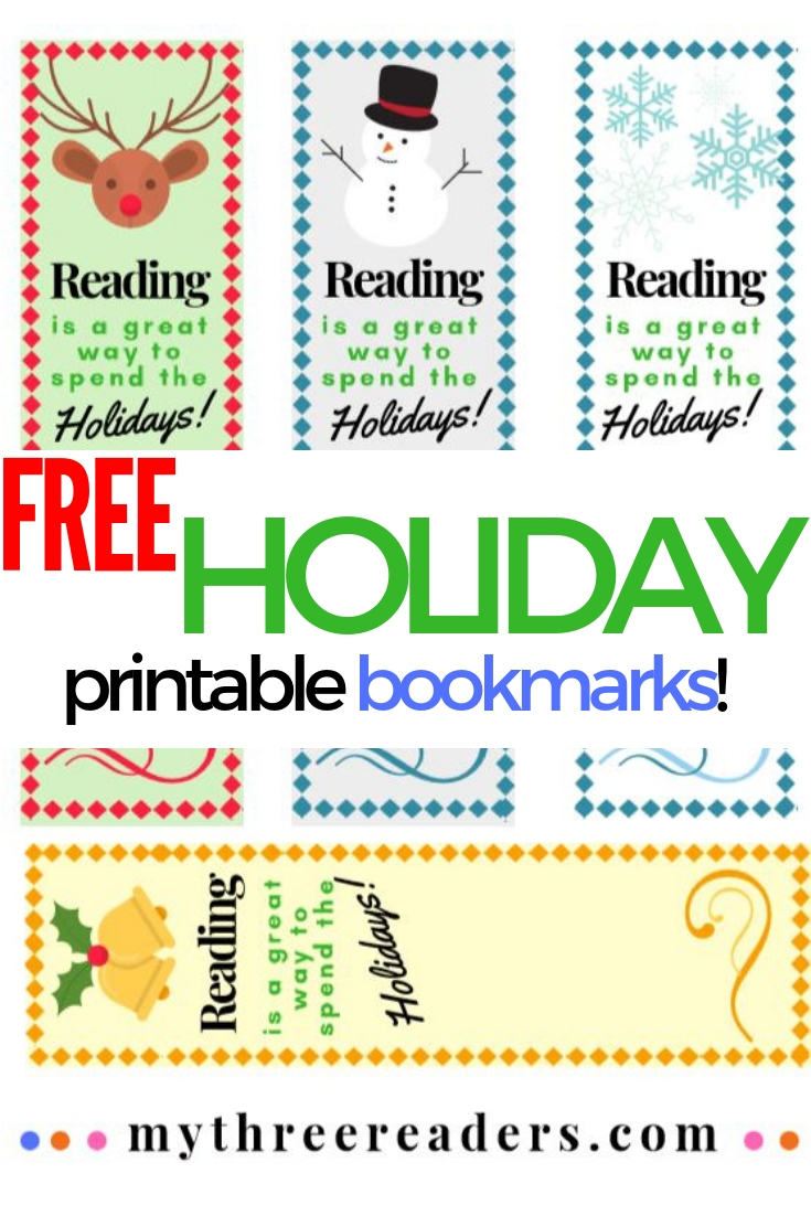 Free holiday bookmarks for teachers, parents & kids! Print in color or black and white for free Christmas printable bookmarks to color. #bookmarks #printables #printablesforkids #christmascrafts #christmasgifttags