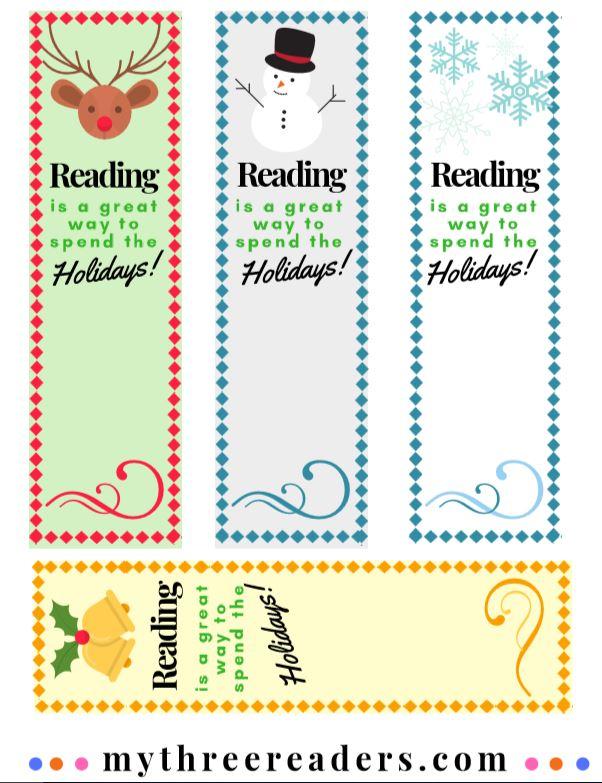 Christmas printables, Christmas bookmarks to make