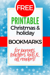 Free Printable Christmas Bookmarks for Teachers, Parents & Kids