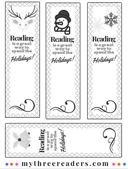 Printable Christmas bookmark template, Children's Bookmarks to Make