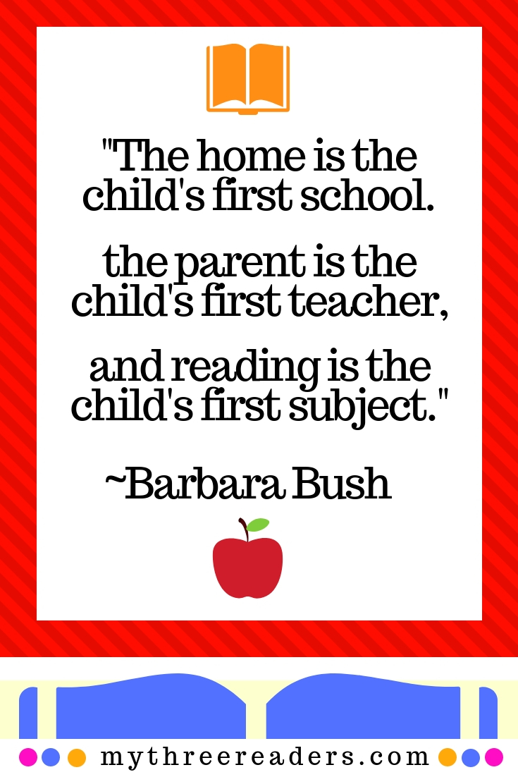 Barbara Bush quote, benefits of reading for students