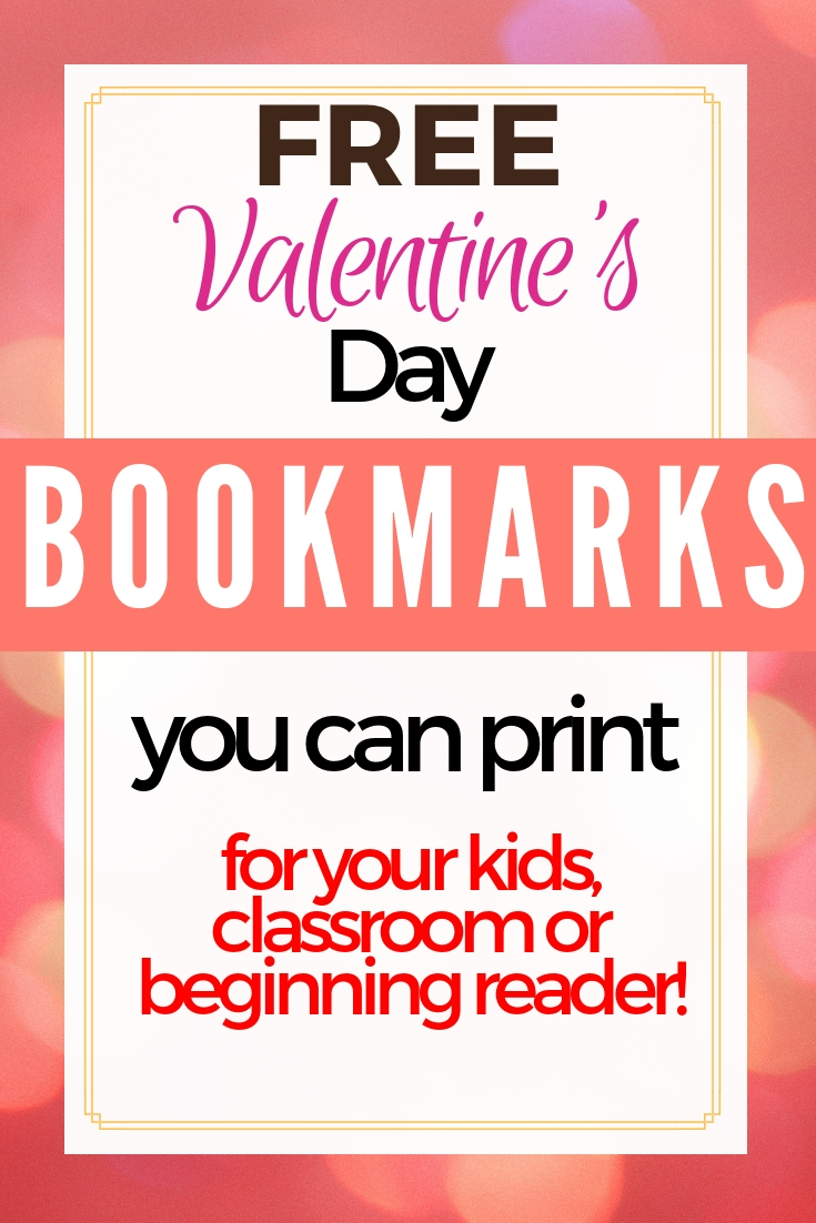 Valentine's corner bookmarks with craft templates (free printables)