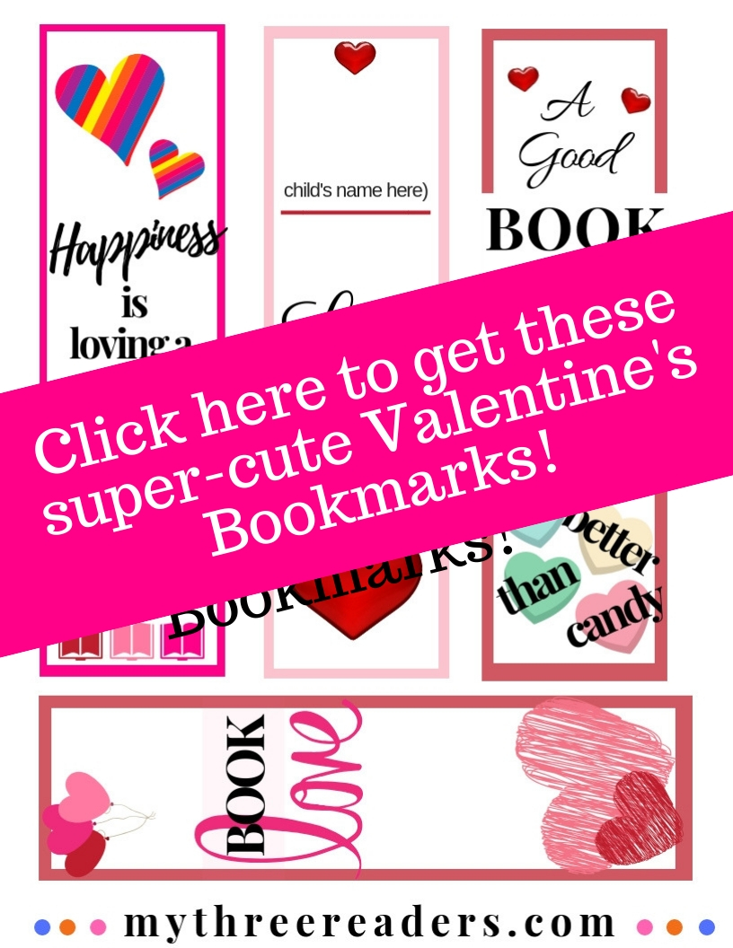 Valentines bookmarks to print, similar to Red Ted printables.