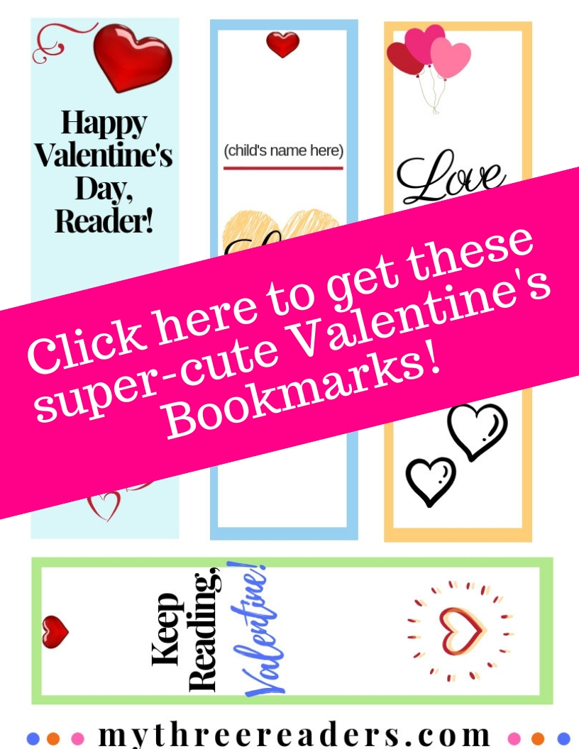 Valentine's bookmark to print, similar to crafts found on red ted art.