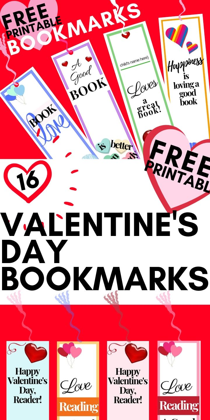 Printable Valentines Day Bookmarks