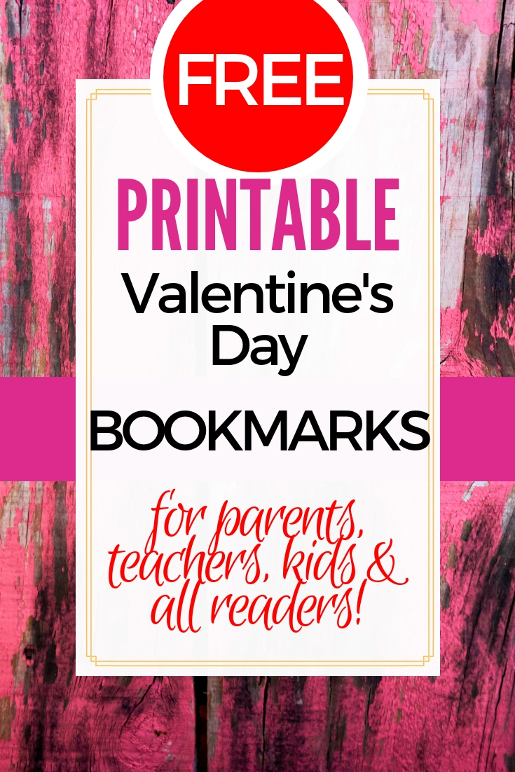Bookmark designs with quotes for Valentine's Day