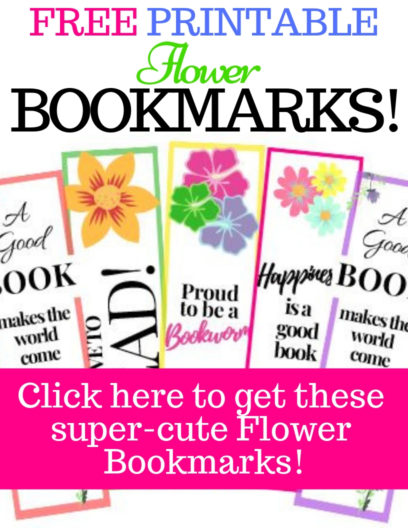 Free printable Flower Bookmarks, flower bookmark craft designs & ideas