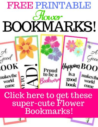 Free printable Flower Bookmarks, flower bookmark craft designs & ideas