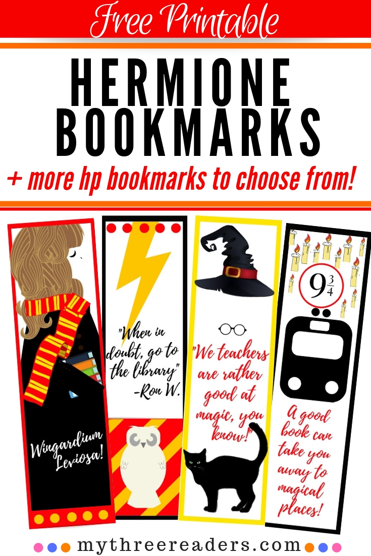 image about Harry Potter Printable Bookmarks called No cost Printable Hermione Bookmarks For Your HP Bookworm!