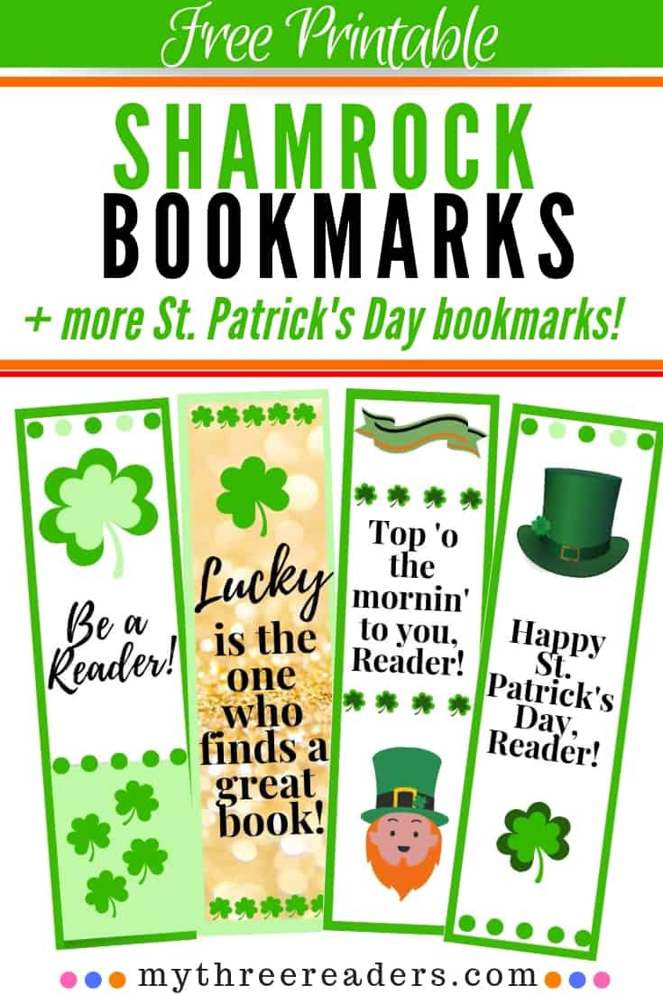 Free Printable Shamrock Bookmarks