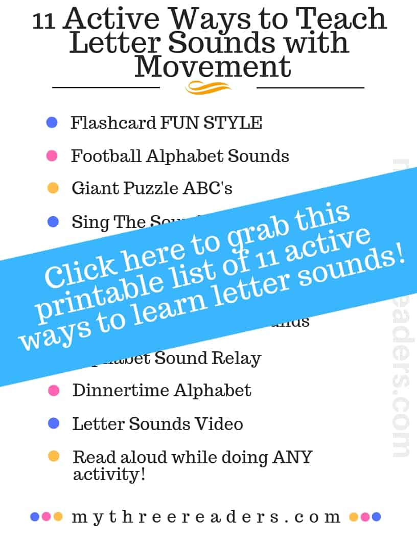 11 Ways To Teach Letter Sounds With Movement For Alphabet Learners