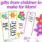 Homemade Mother's Day Gift from Child - Free printable bookmarks and card!