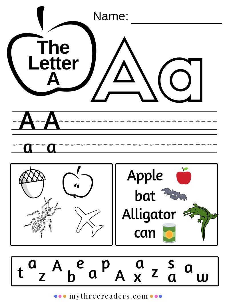picture regarding Letter Printables identify Schooling the Letter A - Routines, Crafts, Printables