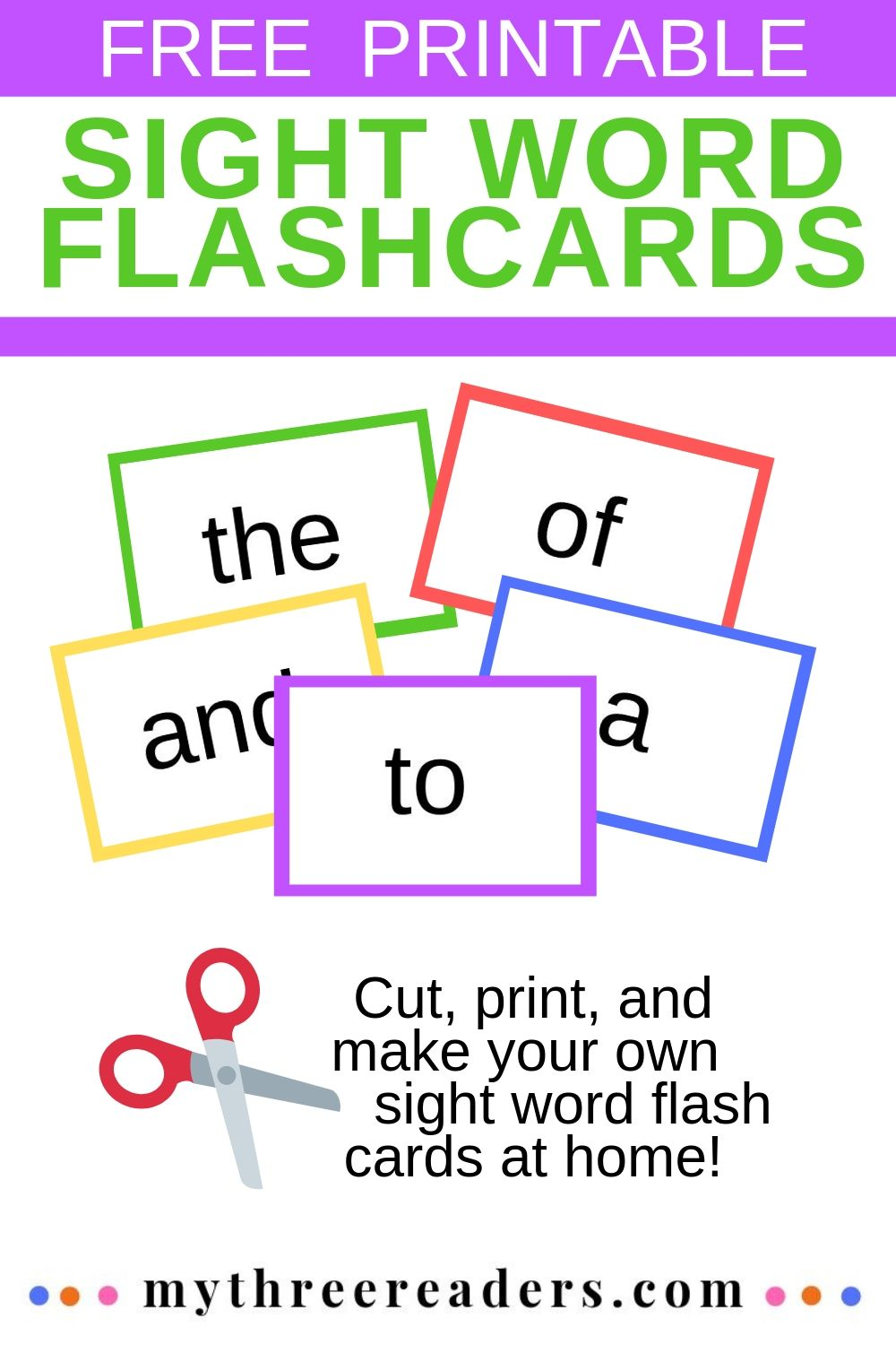 Free Sight Word Flash Cards