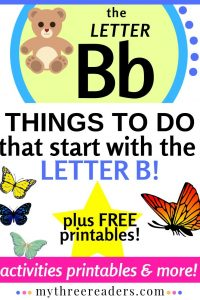 Free, Printable Letter B Worksheets with Crafts, Activities & More!