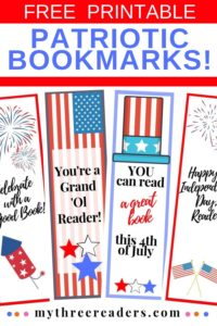 Patriotic Bookmarks – Free, printable, & perfect for the 4th of July!