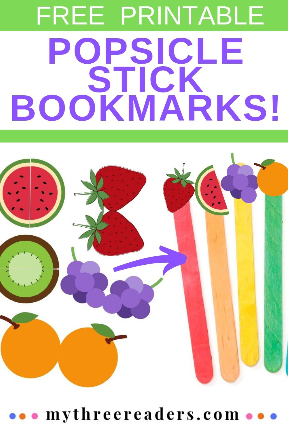 Popsicle Stick Bookmarks Pin