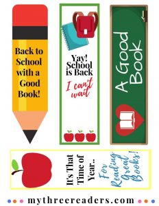 Back to School Printable Bookmarks
