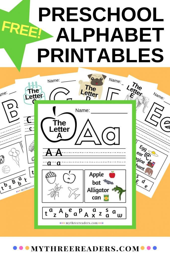 FREE 26 Preschool Printable Alphabet Worksheets A-Z - Homeschool Giveaways