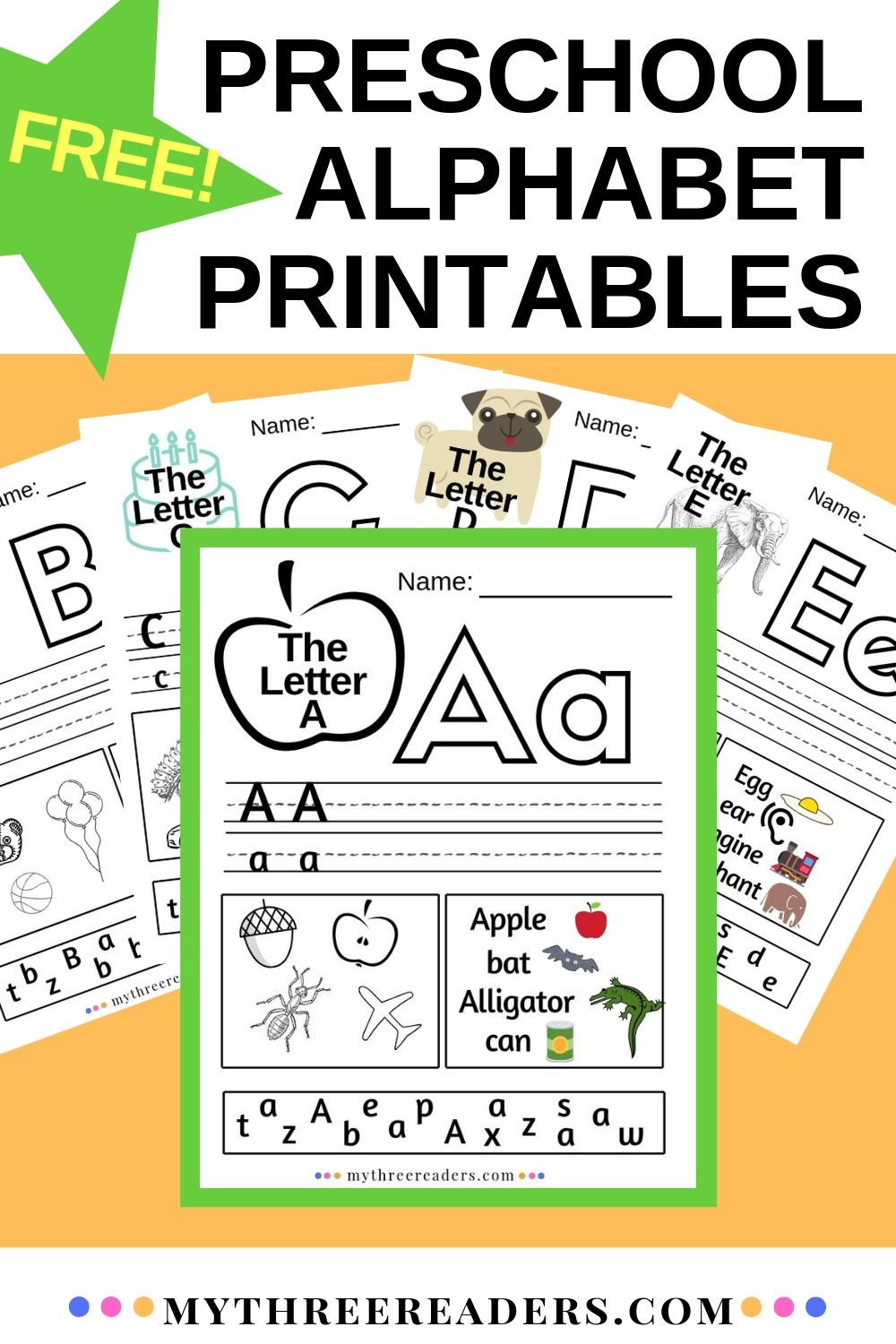 - Alphabet Worksheets A-Z ABC Printables For Preschool