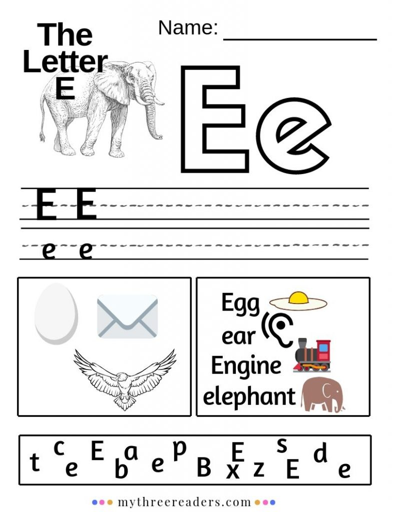 Letter E Printable