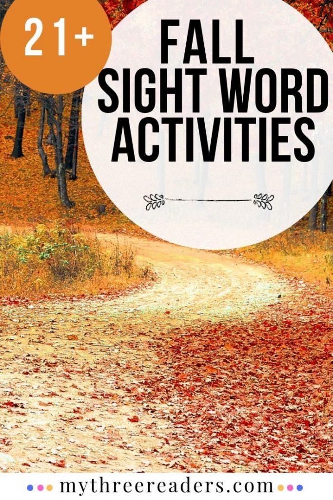 Fall Fun Ways to Teach Sight Words