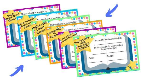 phonics certificates to print