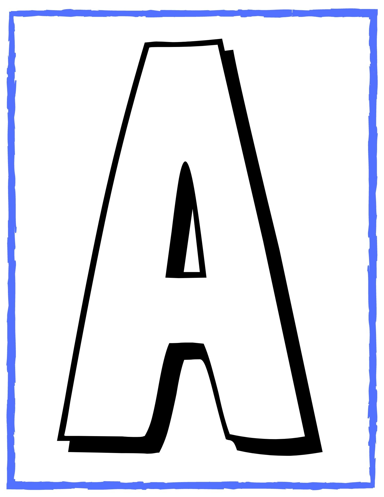 Capital Alphabet Whole Page