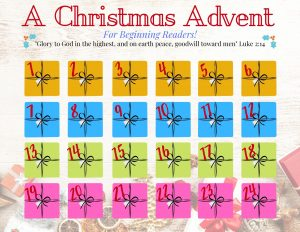 Printable Advent Calendar Perfect for Beginning Readers