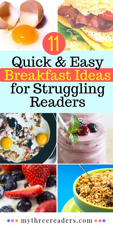 Breakfast foods to help struggling readers