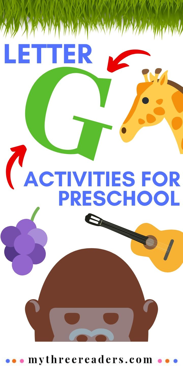 Letter G activities for preschool