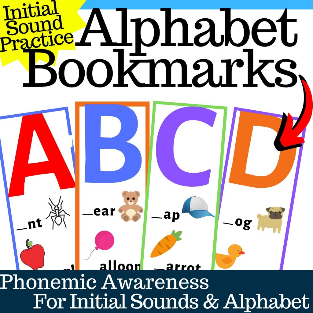Alphabet Bookmarks with Initial Sounds