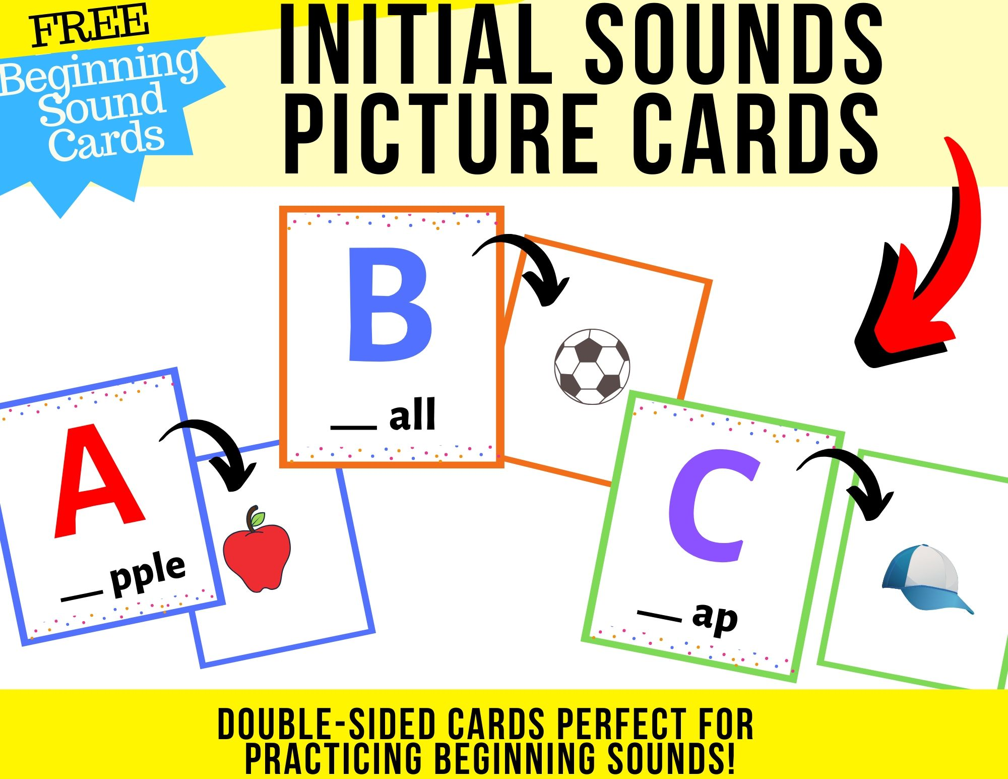 Beginning Sounds Worksheets FREEBIE