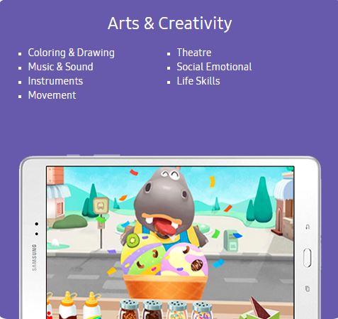Samsung Kids Arts & Creativity Content