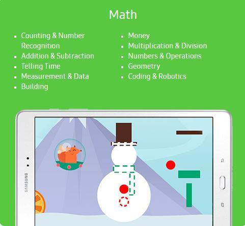 Samsung Kids Math Content